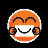 Odznaka dostawca uśmiechów